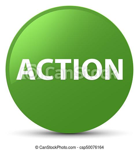 Action soft green round button - csp50076164
