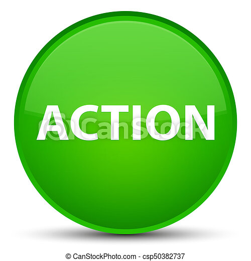 Action special green round button - csp50382737