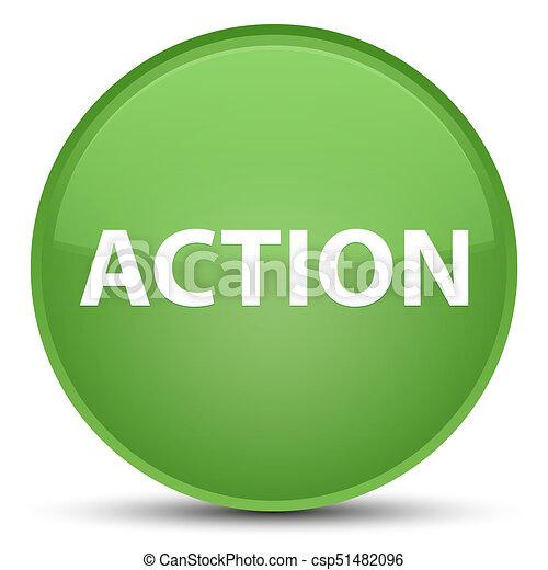 Action special soft green round button - csp51482096