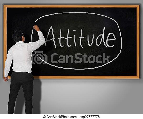 El concepto de actitud - csp27877778