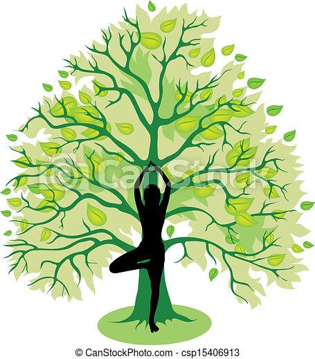 Posa de yoga - csp15406913