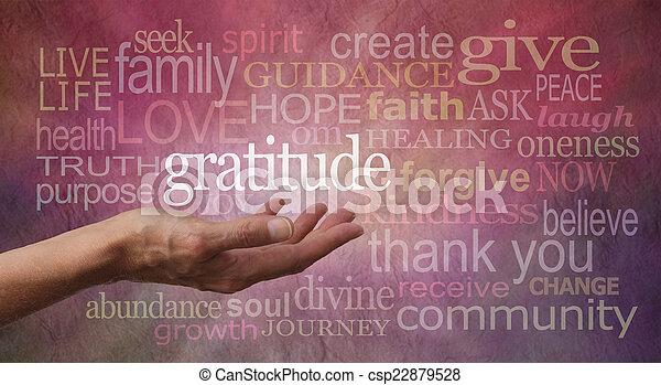 Actitud de gratitud - csp22879528