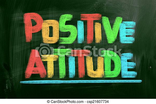 El concepto de actitud positiva - csp21607734