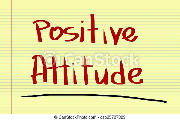 El concepto de actitud positiva - csp25727323