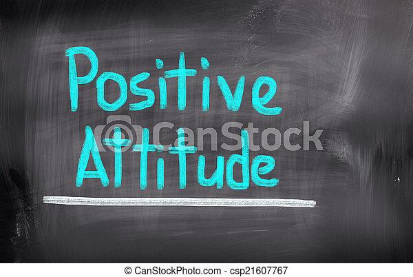 El concepto de actitud positiva - csp21607767