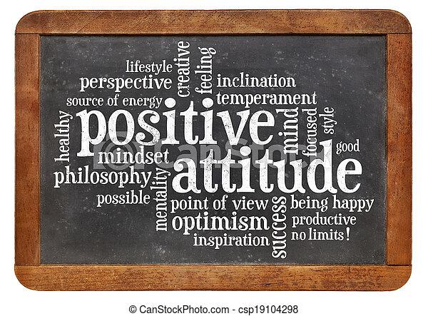 El concepto de actitud positiva en la pizarra - csp19104298