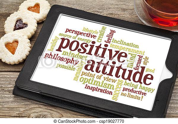 Nube de palabra positiva - csp19027770