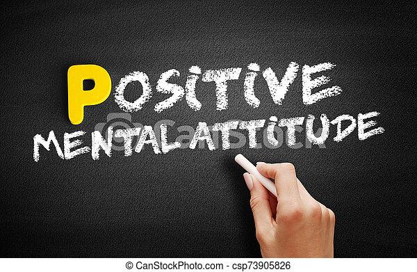 actitud, positivo, pizarra, texto, mental - csp73905826