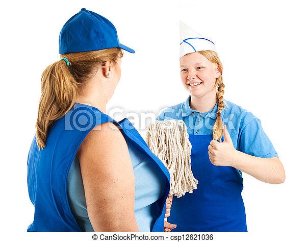 El trabajador adolescente tiene una gran actitud - csp12621036