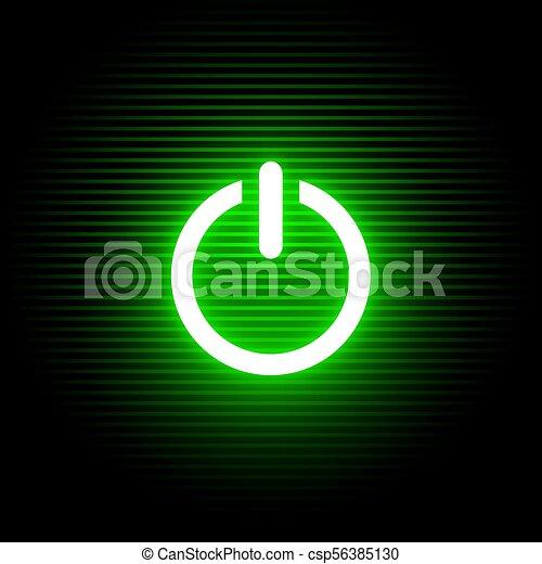 Creative Design Of Activate Green Light Symbol