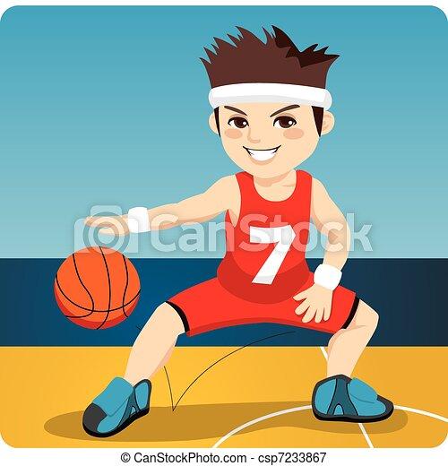 Active Basketball Player - csp7233867