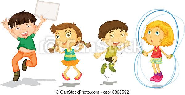 Active kids playing - csp16868532