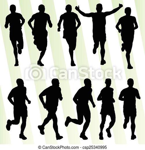 Active men runner sport athletics - csp25340995