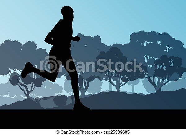 Active men runner sport athletics - csp25339685