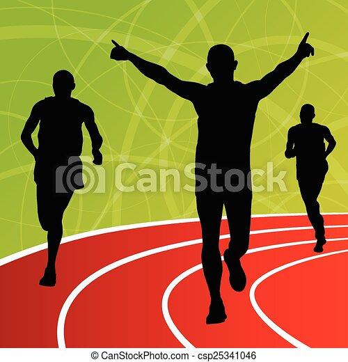 Active men runner sport athletics - csp25341046