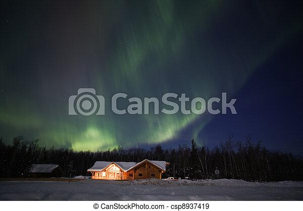 Active multicolor Aurora Borealis - csp8937419