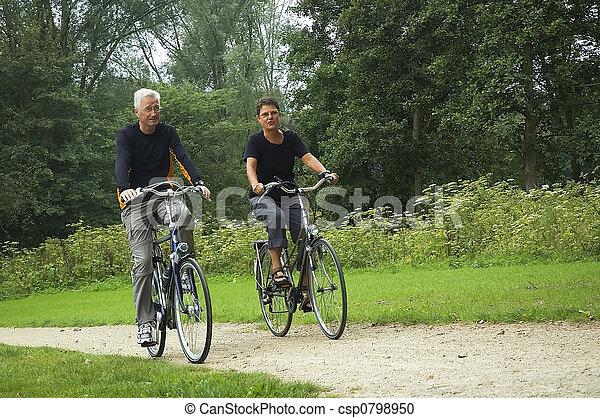 Active Senior Couple - csp0798950