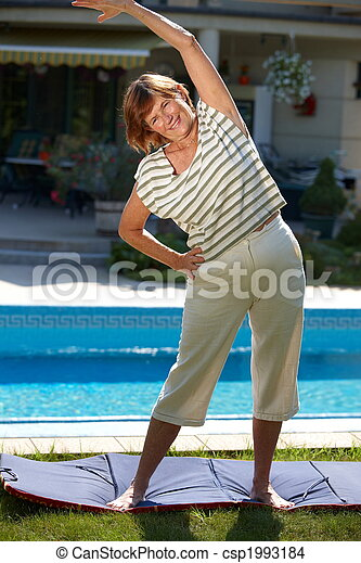 Active senior woman - csp1993184