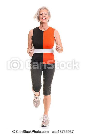 Active senior woman - csp13755937