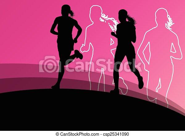 Active women runner sport athletics - csp25341090
