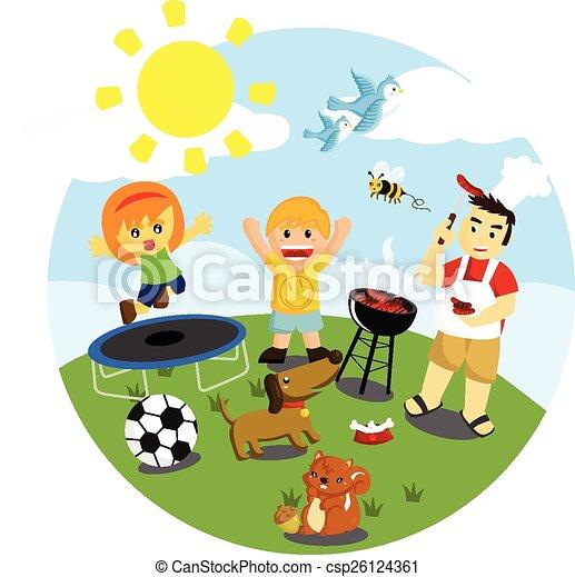 Actividades al aire libre vector clip art buscar - Actividades para ninos al aire libre ...