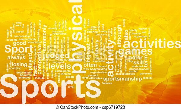 actividades, concepto, plano de fondo, deportes - csp6719728