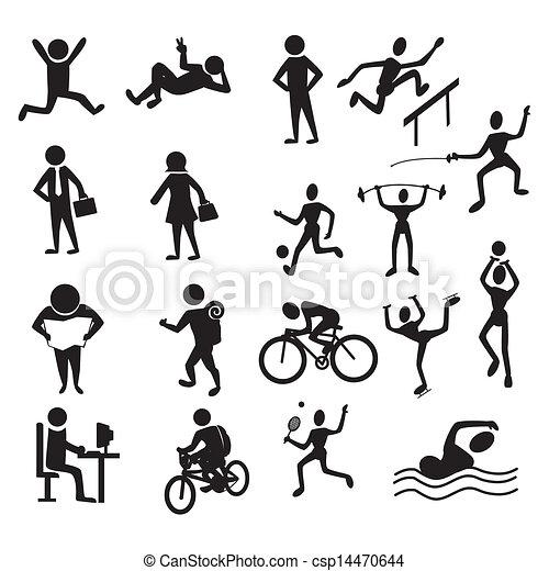 actividades, gente - csp14470644