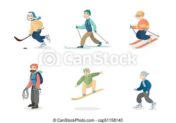 Actividades de invierno establecidas. - csp51158140