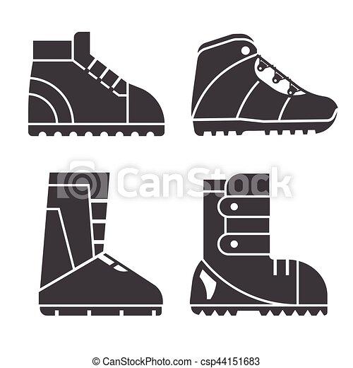 Bottes D'hiver Icônes De Ligne Mince, Chaussures De Sport