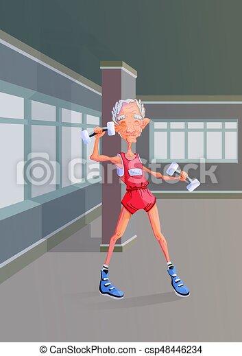 Beroemd Activiteiten, dumbbells, levensstijl, illustration., gym #VK95