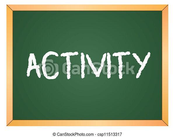 Activity word on chalkboard - csp11513317