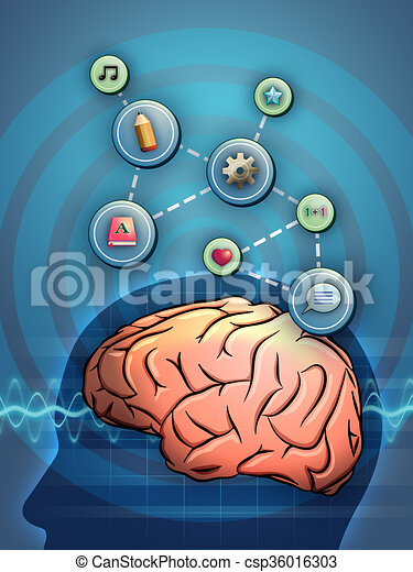 Cerebro activo - csp36016303