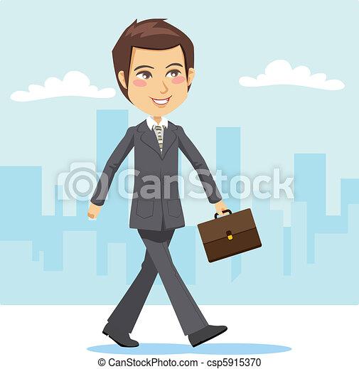Joven hombre de negocios activo - csp5915370