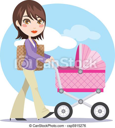 Joven madre activa - csp5915276
