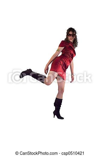activo, niña, moda - csp0510421