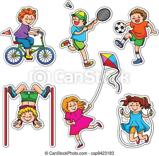 activo, niños - csp9423183