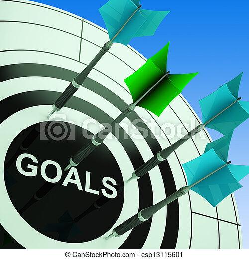 actuación, futuro, blanco, planes, metas - csp13115601