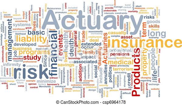 Actuary background concept - csp6964178