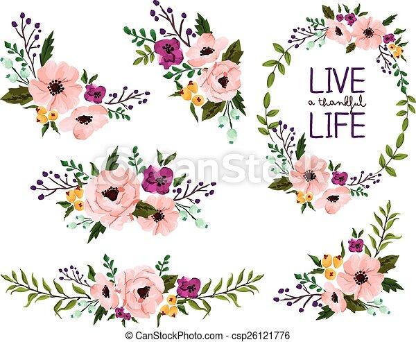 acuarela, flor - csp26121776