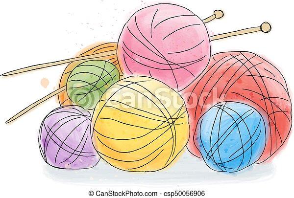 Bola de acuarela de lana - csp50056906