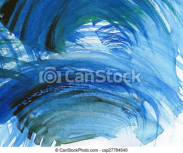 Acuarela abstracta pintada de fondo - csp27784540