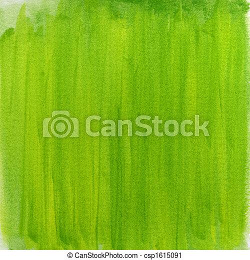 acuarela, resumen, verde, primavera, plano de fondo - csp1615091