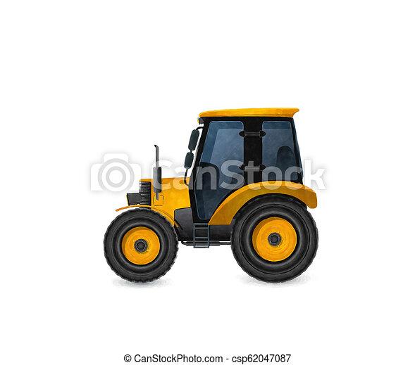 Un tractor acuarela - csp62047087