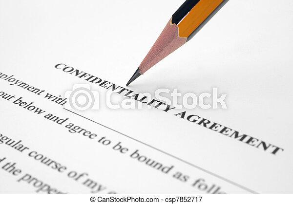 Un acuerdo confidencial - csp7852717