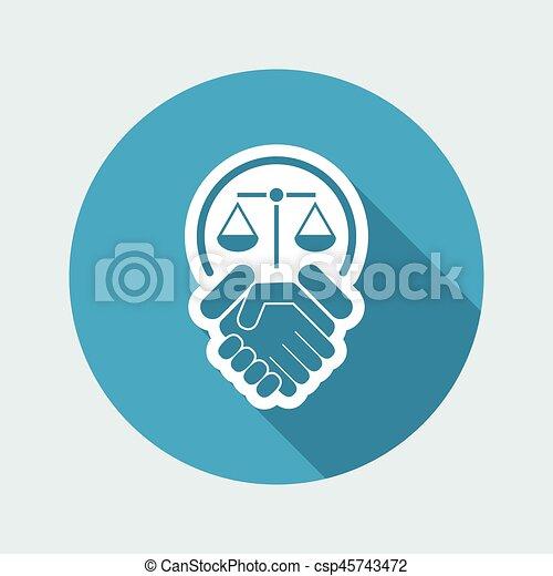 Un acuerdo legal - csp45743472