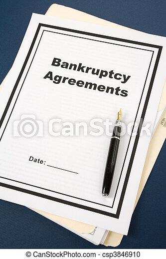 Acuerdo de bancarrota - csp3846910