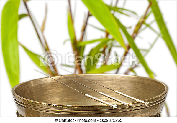 acupuncture needles - csp9875265