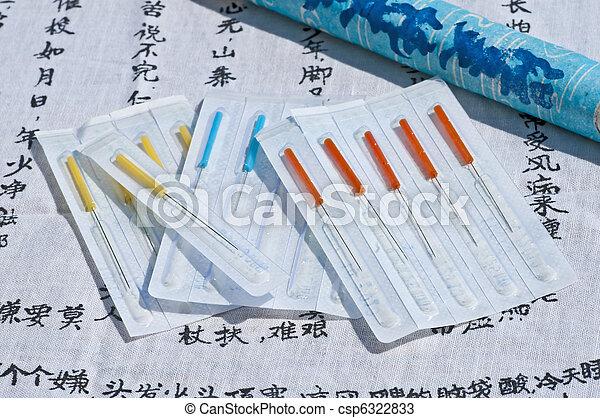 acupuncture needles - csp6322833