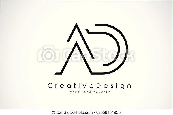 ad letter logo design creative icon modern letters vector logo ad