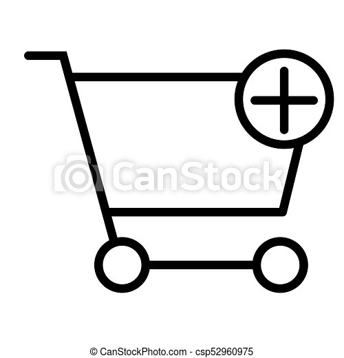 Add Items to Shopping Cart Pixel Perfect Vector Thin Line Icon 48x48. Simple Minimal Pictogram - csp52960975